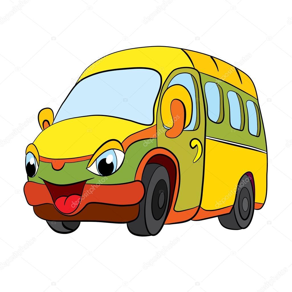 Depositphotos 64632631 stock illustration cartoon of merry minibus