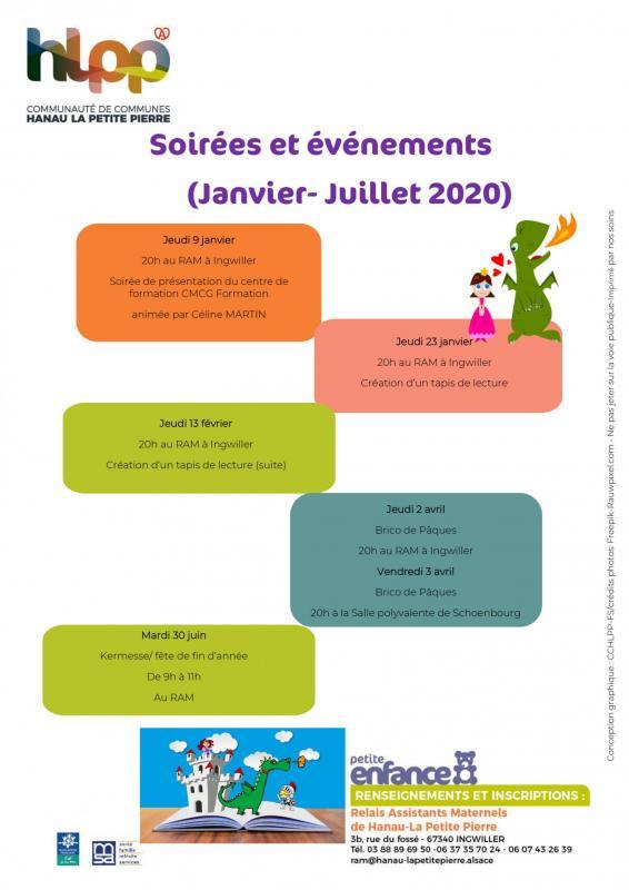 Programme des ateliers eveils tableau2